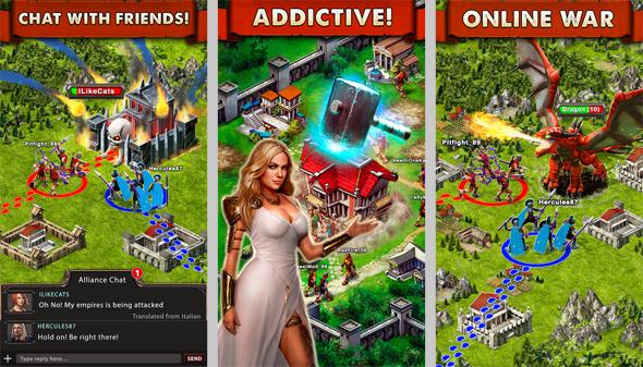 אפליקציה game of war, צילום: itunes