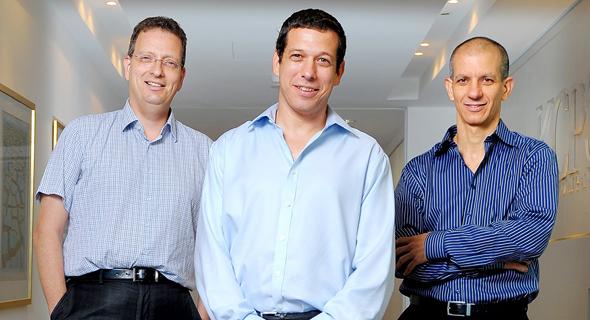 מנהלי קרן קדמה, מימין: גלעד שביט, אורי עינן וגלעד הלוי