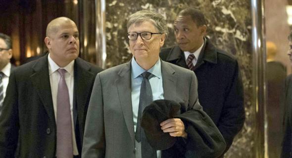 מייסד מיקרוסופט ביל גייטס בטראמפ טאואר בניו יורק, צילום: איי אף פי
