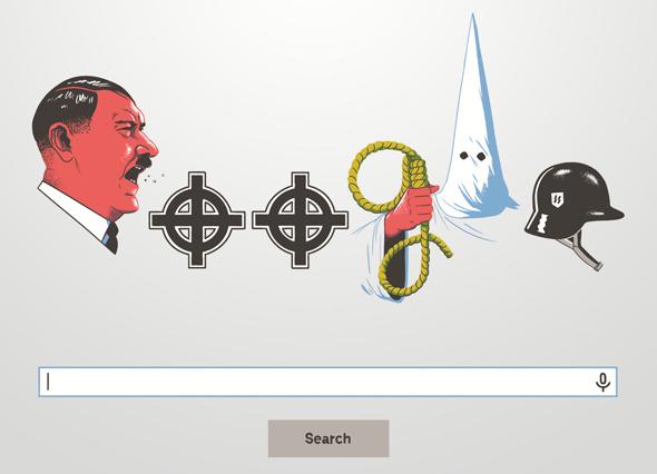 איור טכנוליגי גוגל גזענות אנטישמיות, איור: יונתן פופר
