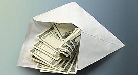 דולר דולרים כסף מעטפה שחיתות שוחד, צילום: shutterstock