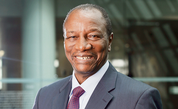 Guinean President Alpha Condé. Photo: Bloomberg