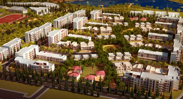 """הדמיה הדמייה שכונה מערבית מגדל העמק 1, צילום: ענת פיק אדריכלות ובינוי ערים בע""""מ"""
