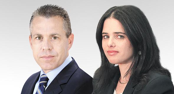 איילת שקד שרת משפטים ו גלעד ארדן שר לביטחון פנים, צילום: אלכס קולומויסקי, Kobi Gideon