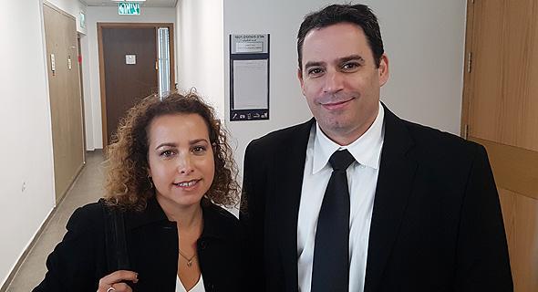 התובעים בתיק פרשת הרצת מניות פסגות יהודית תירוש-גרוס ו עמית בכר, צילום: תומר גנון