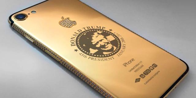 מחפשים מתנה מקורית לחג המולד? נסו אייפון מוזהב עם חותם טראמפ