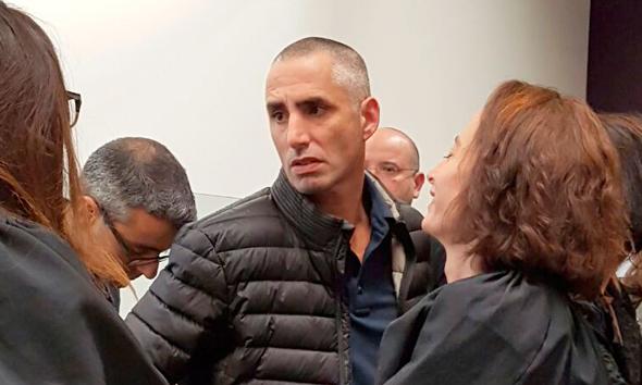 דוד אדרי, בכיר לשעבר בפסגות, בבית המשפט, צילום: נעמי צורף