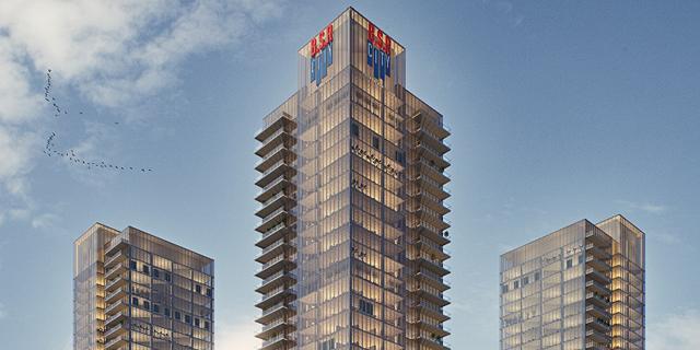 בסר תקים 4 מגדלי משרדים על ציר ז'בוטינסקי בפתח תקוה
