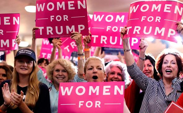 """53% מהנשים הלבנות בארה""""ב הצביעו לטראמפ"""