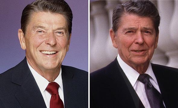 רונלד רייגן. לפני ואחרי, צילום: גטי אימג