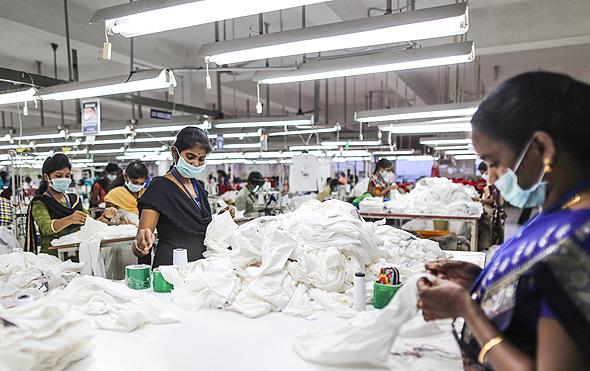 מפעל טקסטיל בהודו