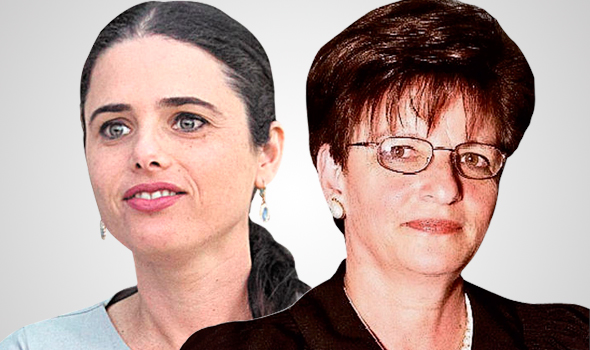 מימין תחיה שפירא שופטת ו איילת שקד שרת המשפטים, צילום: אוהד צויגנברג