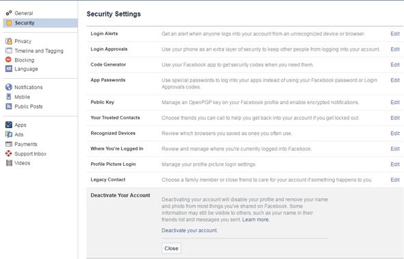 התנתקות פייסבוק