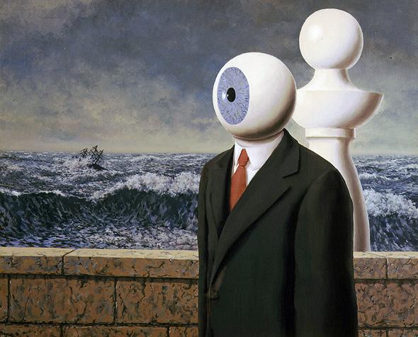 """The Difficult Crossing II"", רנה מגריט. האא""א הוא כמו אדם עם עין אחת שמוליך את העיוורים"