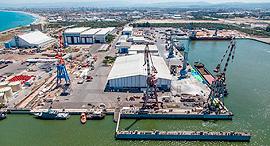נמל מספנות ישראל ב חיפה, צילום: אלבטרוס, צילום אווירי