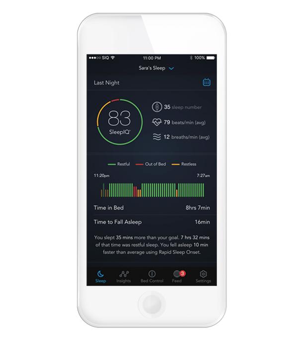 אפליקציה מיטה חכמה 360 , צילום: sleepnumber.com