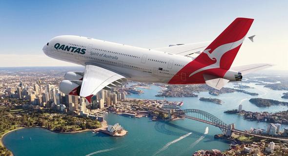 מטוס חברת Qantas האוסטרלית