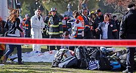 זירת הפיגוע, צילום: איי אף פי