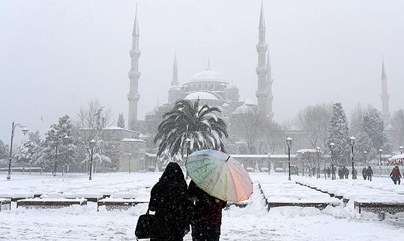 איסטנבול בשלג