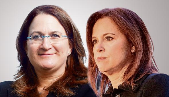 """מימין: רקפת רוסק עמינח, מנכ""""לית לאומי, ודנה עזריאלי, יו""""ר עזריאלי"""