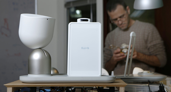 ElliQ robot by Intution Robotics. Photo: Amit Sha'al