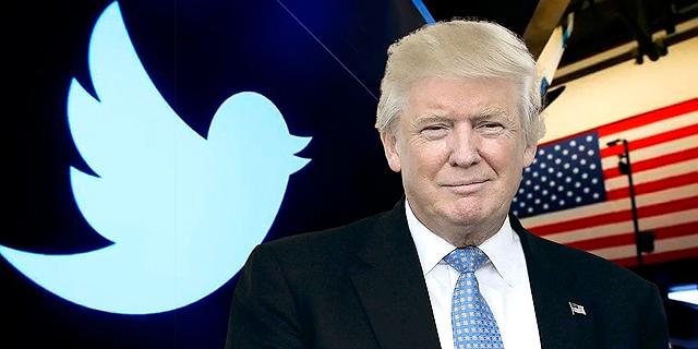 דונלד טראמפ ולוגו טוויטר, צילום: רויטרס