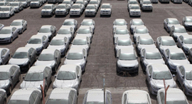רכבים בנמל אילת, צילום: אוראל כהן