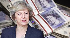 תרזה מיי לירה שטרלינג כסף מטבע אנגליה בריטניה , צילום: גטי אימג'ס, איי אף פי