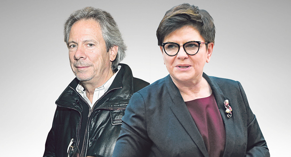 ראשת ממשלת פולין ביאטה שידלו ובעל השליטה בסופר פארם ליאון קופלר