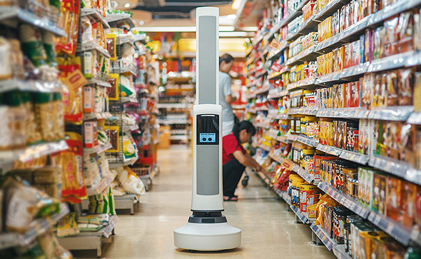 A robot at a supermarket (illustration). Photo: PR