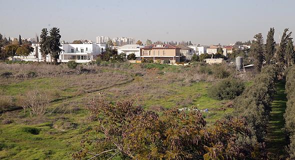 השטח שהופקע ממושב מגשימים לטובת הרחבת היישוב היוקרתי סביון