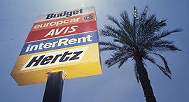 שלט של חברות להשכרת רכב, צילום: שלום בר טל
