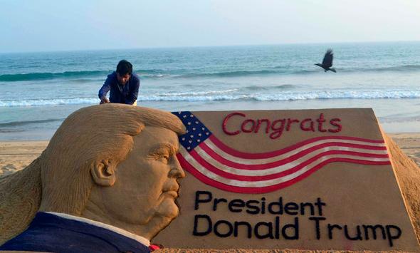דונלד טראמפ ארמון חול ברכה, צילום: איי אף פי