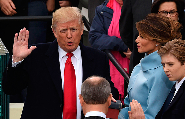 טראמפ בטקס ההשבעה