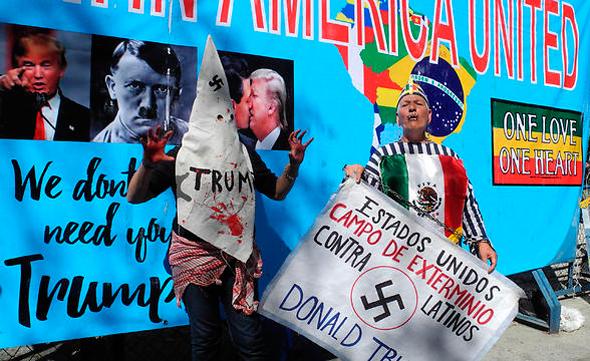 הפגנה נגד דונלד טראמפ ב מקסיקו, צילומים: אם סי טי