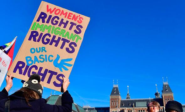 הפגנה נגד דונלד טראמפ ב הולנד, צילומים: אם סי טי