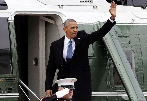 הנשיא לשעבר ברק אובמה נפרד, צילום: איי פי