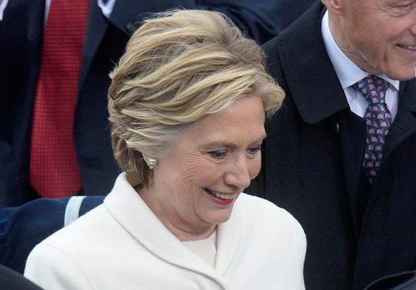 הילרי קלינטון בטקס ההשבעה של דונלד טראמפ, צילום: אם סי טי