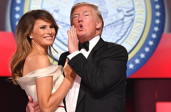 הנשיא דונלד טראמפ ורעייתו מלניה, צילום: אי פי איי