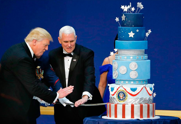 Vice President Mike Pence with President Trump. Photo: Reuters