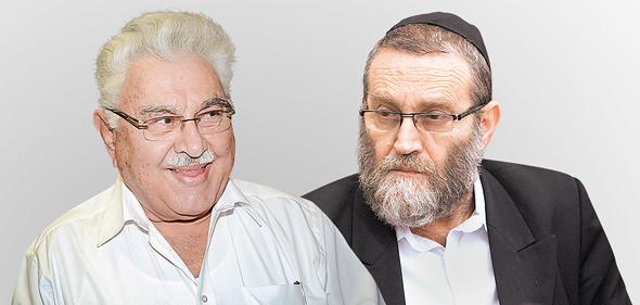 """מימין יו""""ר ועד הכספים משה גפני ושר המשפטים לשעבר משה נסים, צילום: עומר מסינגר"""