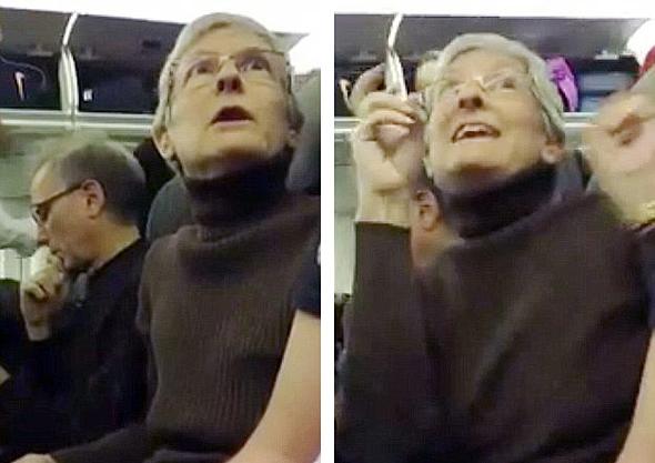 """אשה שהורדה מ טיסה ב ארה""""ב לאחר שהטרידה מילולית תומך של דונלד טראמפ"""