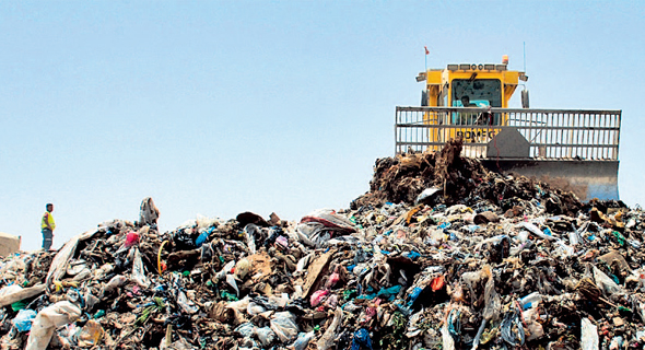 A waste disposal site in southern Israel. Photo: Haim Hornstein