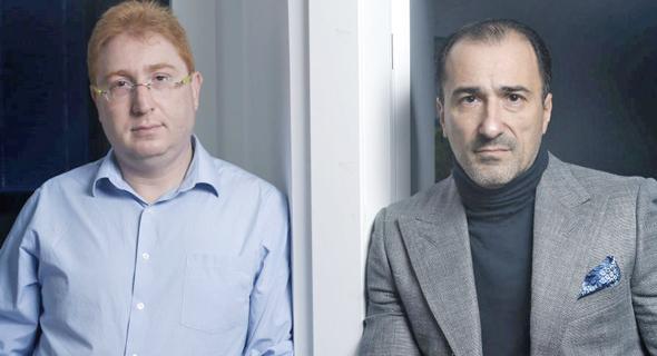 מימין: יוג'ין גרינברג ודימיטרי גייזרסקי