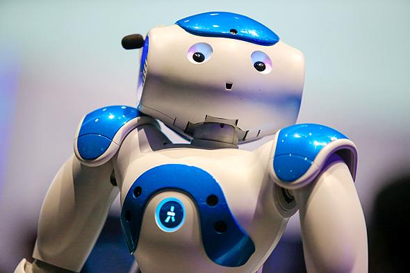רובוט מבוסס ווטסון של חברת IBM מערכות AI, צילום: בלומברג
