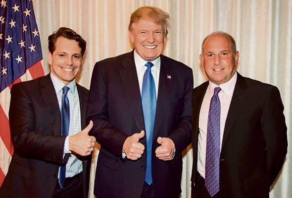 אנתוני סקרמוצ'י עם דונלד טראמפ ו גארי קמינסקי , צילום: טוויטר