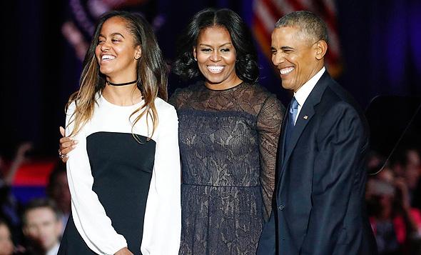 ברק, מישל ומליה אובמה