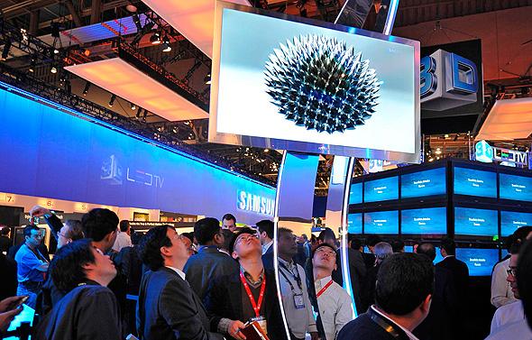 השקה טלוויזיה תלת מימד של סמסונג, צילום: איי אף פי