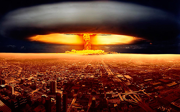 התחזית להלילה: ממטרים כבדים של מוות גרעיני