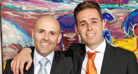 מימין: ברק רוזן ואסי טוכמאייר, ישראל קנדה, צילום: דרור כץ